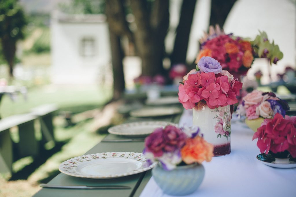 Eclectic Mix Of Antique Tea Cups and Chinaware For Flowers