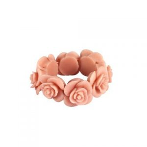 Accessories Blush Resin Rose Ring