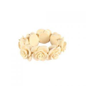 Accessories Cream Resin Rose Ring