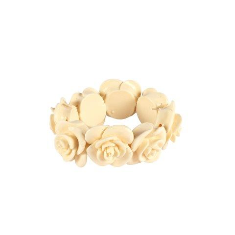 Accessories Cream Resin Rose Ring