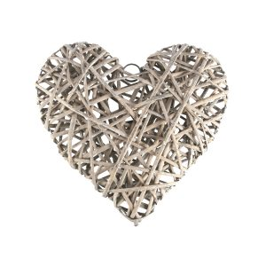 Accessories Heart Grey Wicker Weave X-large 33x33cm