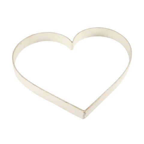 Accessories Heart Metal White Medium In Size 30x35cm