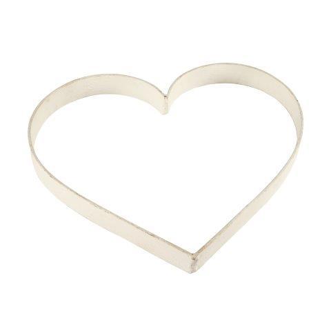 Accessories Heart Metal White Medium In Size 30x35cm