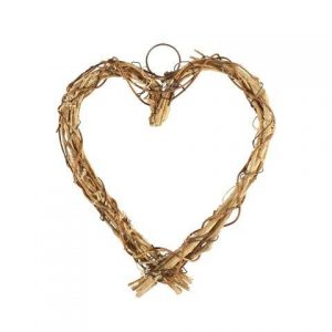 Accessories Heart Willow and Wire Medium In Size 22x19cm