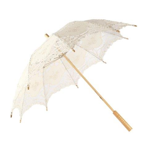 Accessories Umbrella Parasol Cream Lace 80cm