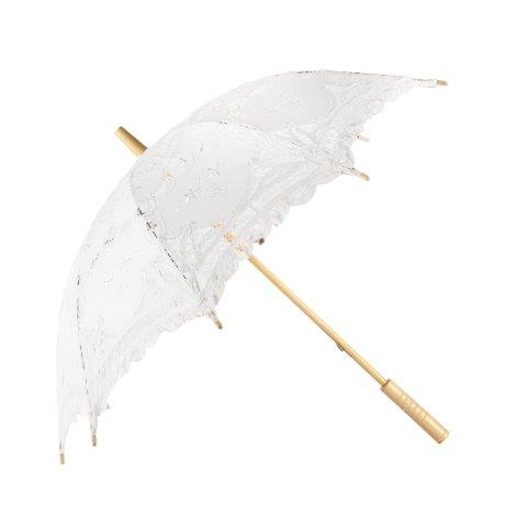 Accessories Umbrellas Parasols White Lace 80cm
