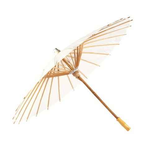 Accessories White Satin Umbrella Parasols 80cm