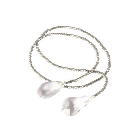 Accessories Pearl Grey String with Crystal 90cm