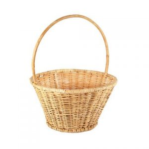 Basket Wicker Round Handle Elly