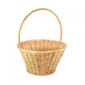 Basket Wicker Round Handle Elly