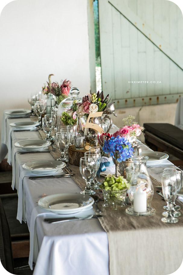 Beach Weddings Vintage Table Settings