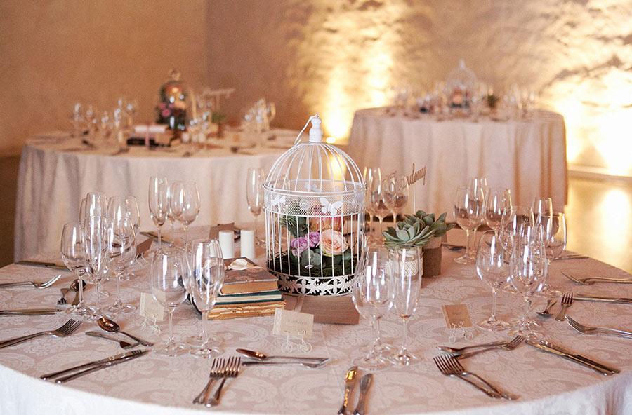 Bird Cage centerpiece table arrangements at reception