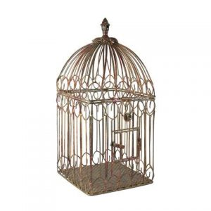 Birdcage Square Brown Antique