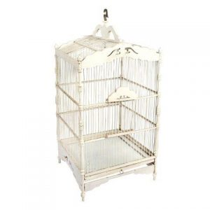 Birdcage Square White Woodx