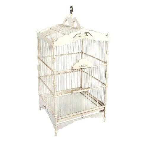 Birdcage Square White Woodx