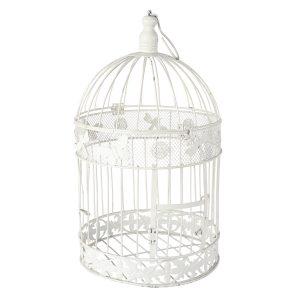 Birdcage White Round Large