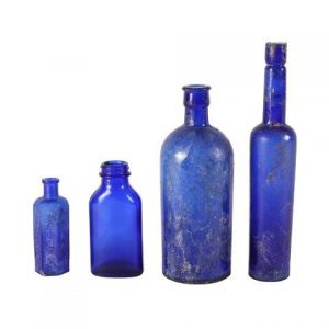 Bottle Cobalt Blue Vintage Mixed