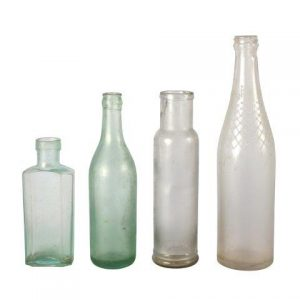Bottle Vintage Aqua Clear Mixed