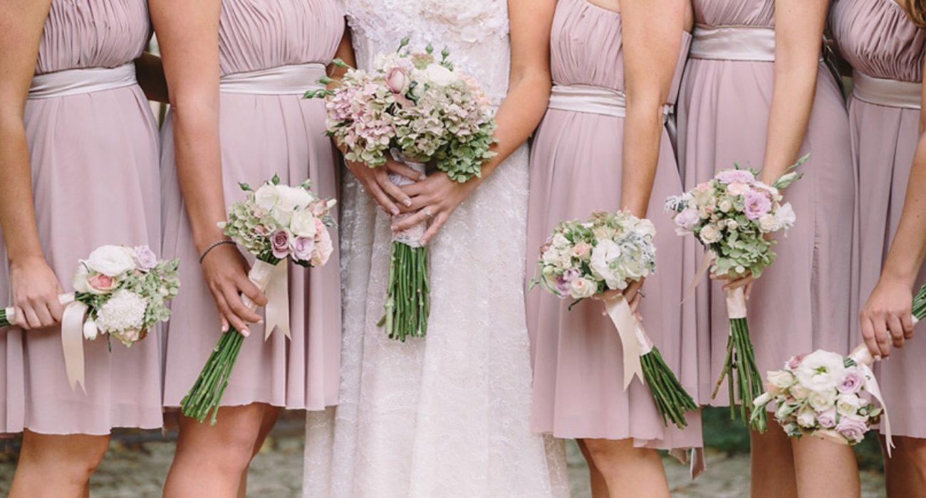 Bride and Brides Maids Flower Boquet