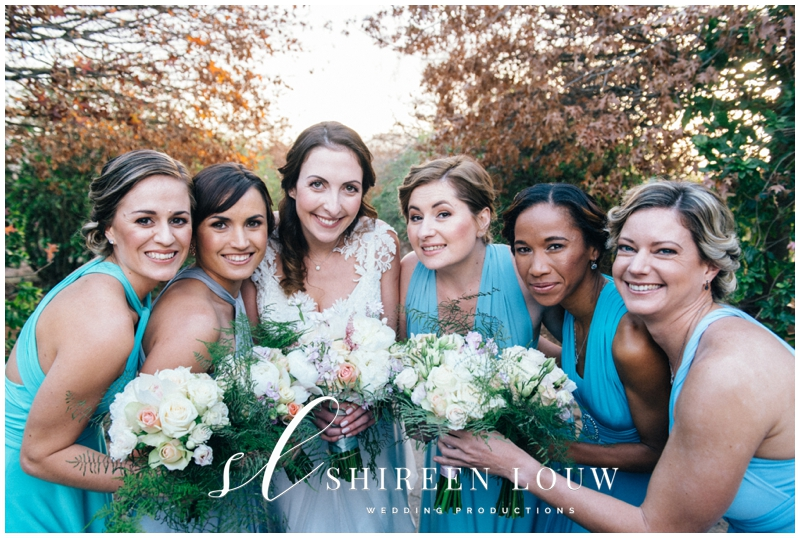 Bride and Her And Bridesmaids