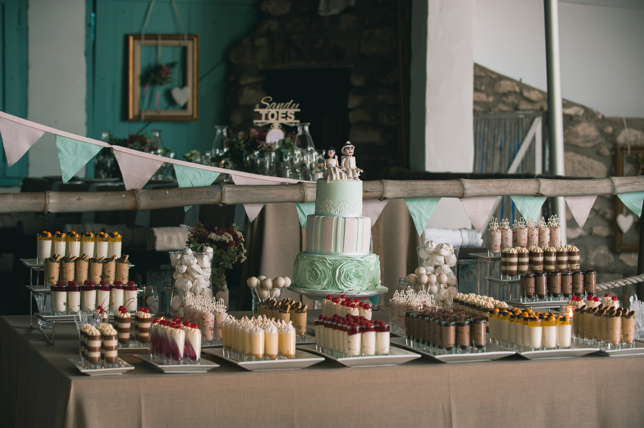 Bunting Desserts And Wedding  Tiered Cake