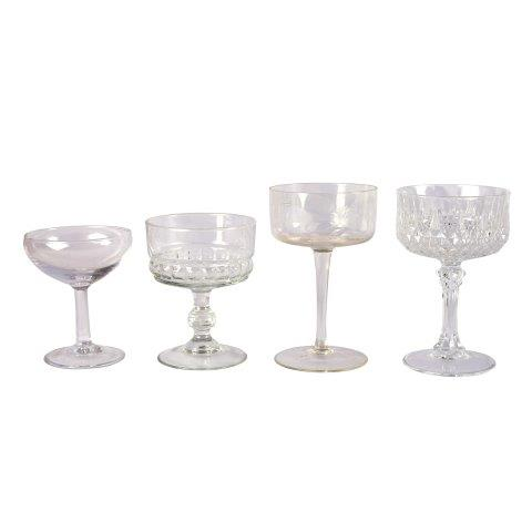 Glass Vintage Champagne Mixed