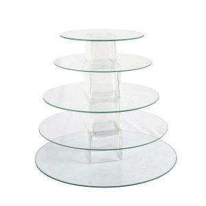 Cake Stand  Tier Glass Round  Sm  L