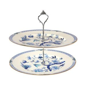 Cake Stand Blue White  Tier cm