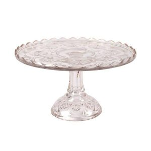 Cake Stand Glass Circle Design  Tier cm