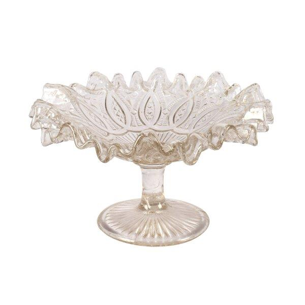 Cake Stand Glass Ripple Edge Loop