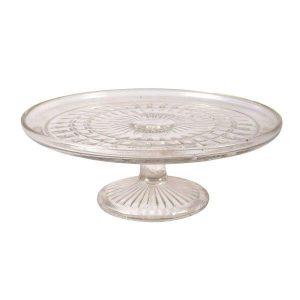 Cake Stand Glass Square Design  Tier cmx