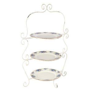 Cake Stand White Metal Frame  Plates cmxcm