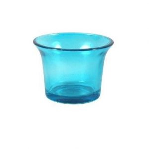 Candle Holder Aqua Blue V Votive S