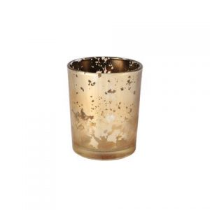 Candle Holder Gold Mottled Votive