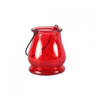 Candle Holder Red Lantern with Handle