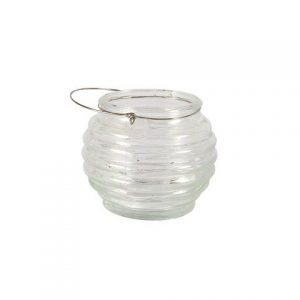 Candle Holder Ripple Ball Clear handle