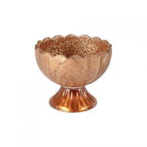 Candle Holder Rose Gold Glitter Bowl
