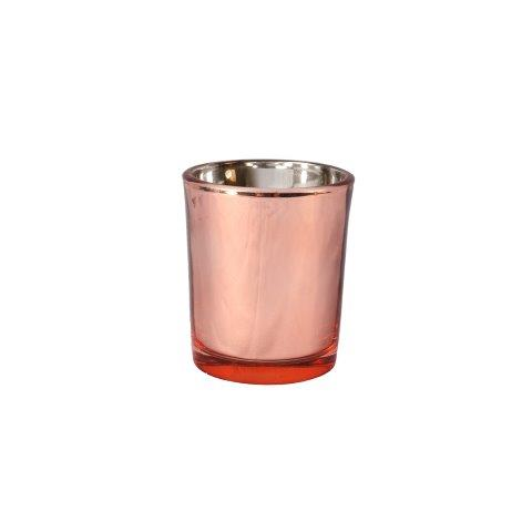 Candle Holder Votive Rose Gold Mirror Small