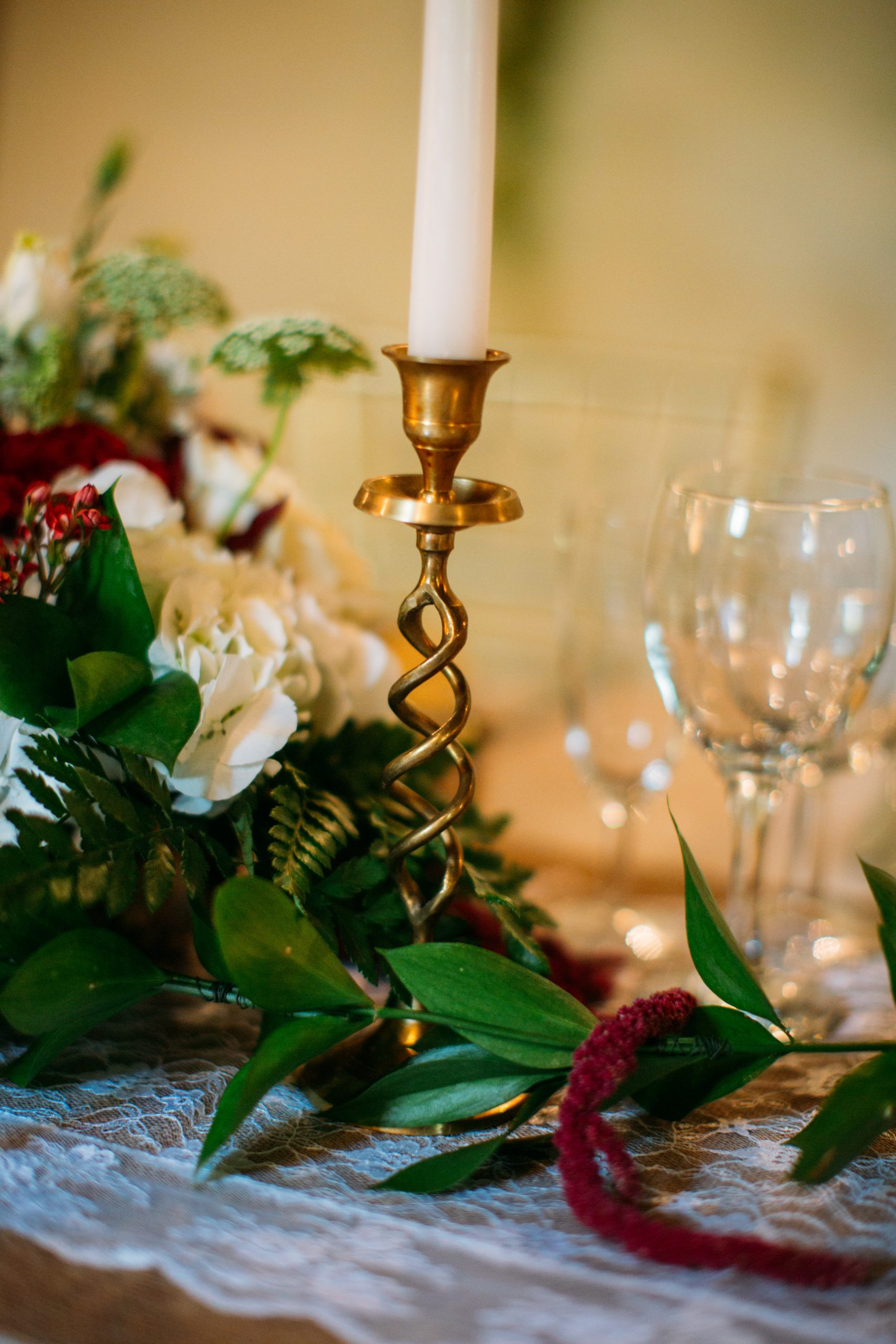 Candlestick And Flower Arrangements scaled