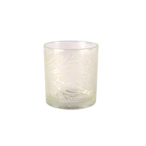Canlde Holder Paisley Frosted Glass