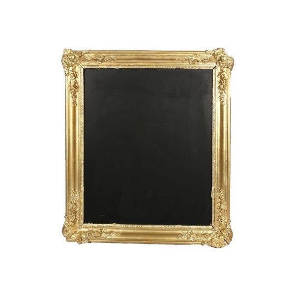 Chalkboard Gold Frame inside