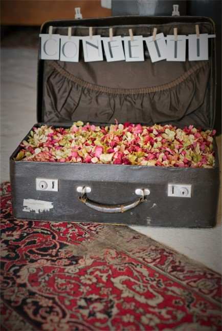 Confetti Petals Carpets And Suitcases