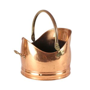My Pretty Vintage Décor Hire wedding coordinating Paarl Container Copper Log Basin with handle