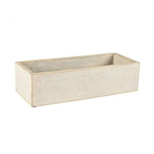 Container Grey Wooden Planter