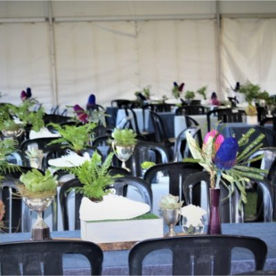 Corporate Flowers Seating KPMG – Two Oceans Marathon Sponsor Marquee