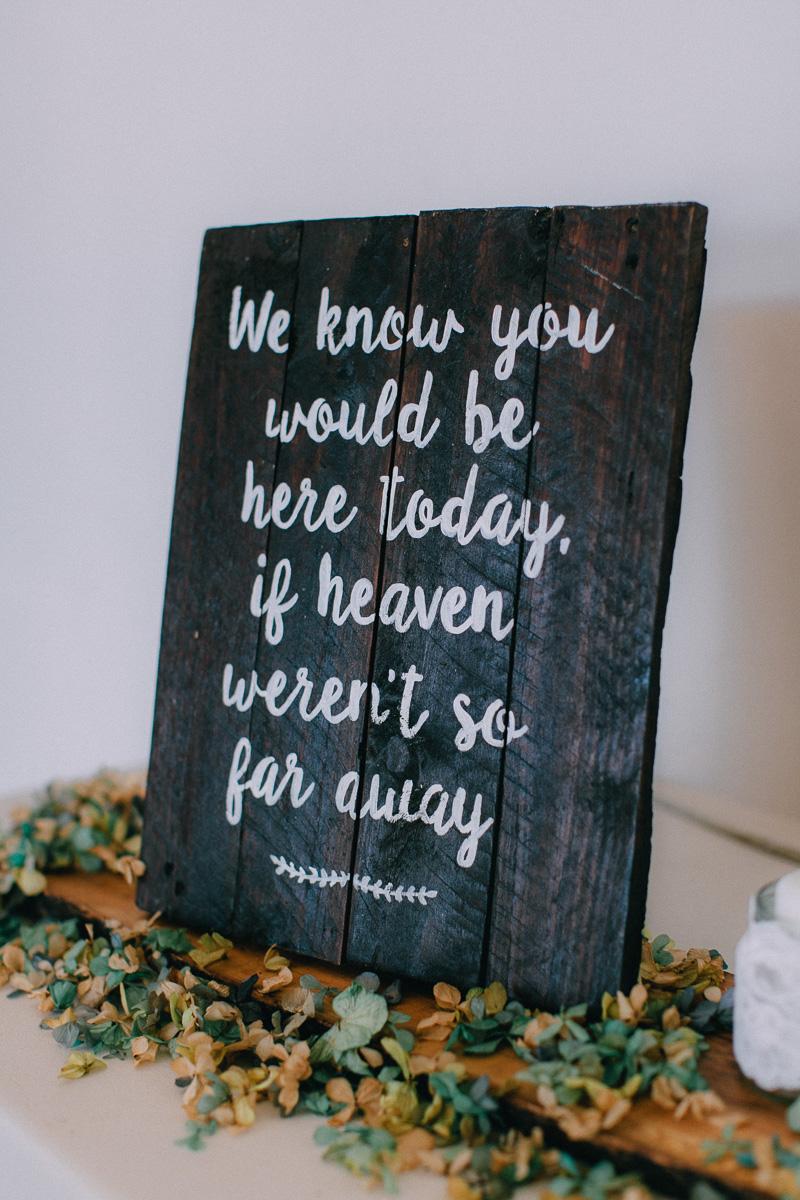Dark Wood Signs for Weddings