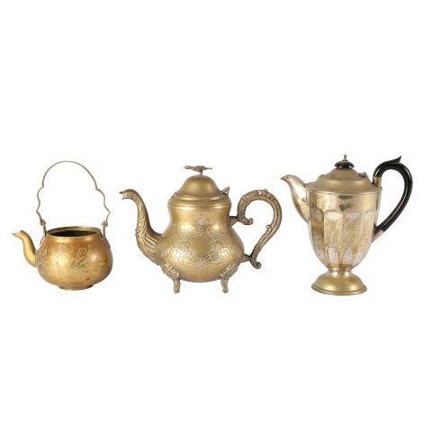 Dinnerware Brass Tea Pots Mixed