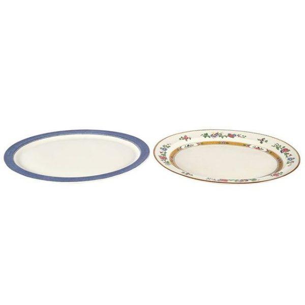 Dinnerware Ceramic Vintage Platters Mixed Large