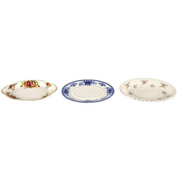 Dinnerware Ceramic Vintage Platters Mixed Small