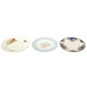 Dinnerware Ceramic Vintage Starter Plates Medium